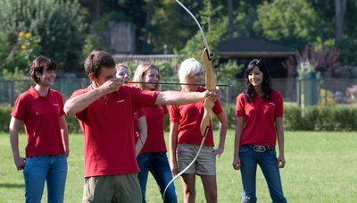 Incentive teambuilding event with archery at Hotel des Nordens